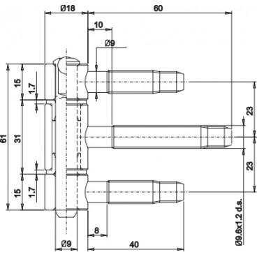 Zamek 72/55 KOLIBER MAGNES klucz cynk biały