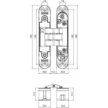 Zamek ZW300D.0035.chrnt