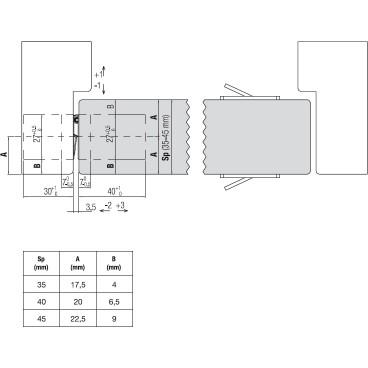 Zamek EUROPORTAL Z 90/30 bęb czoło 22 cynk biały z zaczepem