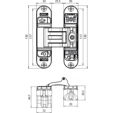 Zamek EUROPORTAL Z 90/35 bęb czoło 22 cynk biały