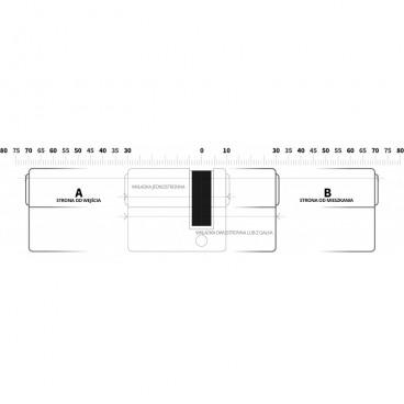 Wkładka z gałką DoorTech Impact Line 40/45mm