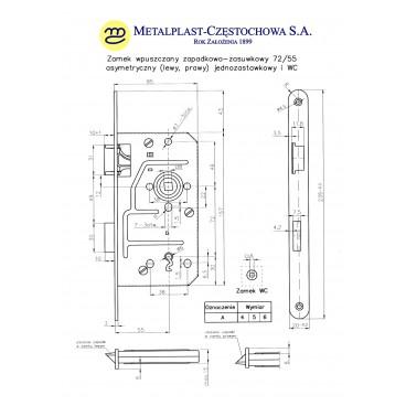 Klamka AURUS długi szyld owalny satyna 72 wc