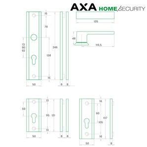 Klamka AXA HAGA PLUS 72 bęb F6 inox