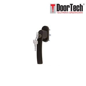 Klamka okienna PLUTON z kluczykiem brąz