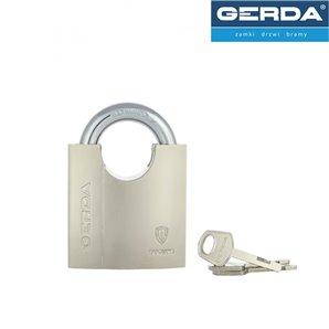 Kłódka GERDA SECURE LINE mosiężna chroniony pałąk