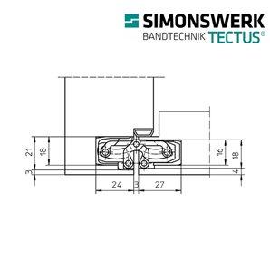 Zawias SIMONSWERK TECTUS TE 240 3D F1