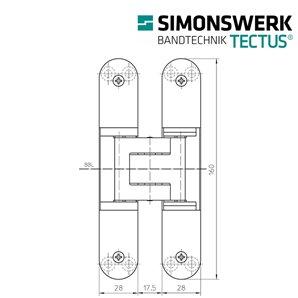 Zawias SIMONSWERK TECTUS TE 340 3D F1
