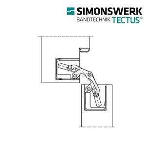 Zawias SIMONSWERK TECTUS TE 340 3D F2