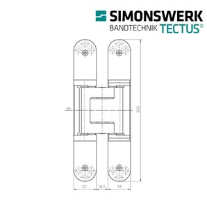 Zawias SIMONSWERK TECTUS TE 540 3D F2
