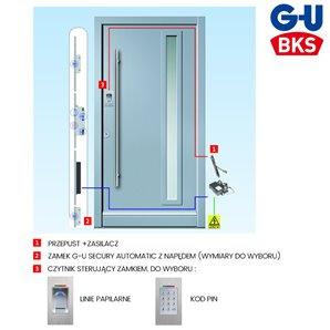 Zestaw zamka elektromotorycznego G-U KD ECONO