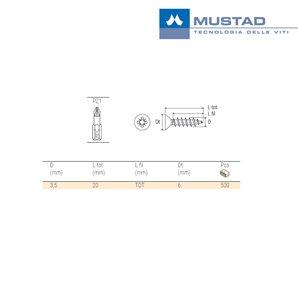 Wkręt MUSTAD Panelvit TD 100 szt