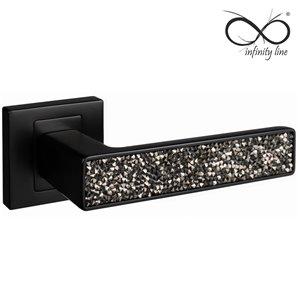 Klamka INFINITY-LINE  CONCEPT kwadratowa czarna-glamour