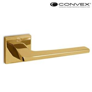 Klamka CONVEX 1495 mosiądz złota