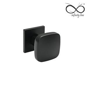 Gałka INFINITY-LINE RUCHOMA FIT 6mm czarna satyna rozeta kwadrat