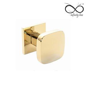 Gałka INFINITY-LINE RUCHOMA  FIT 6mm złota rozeta kwadrat