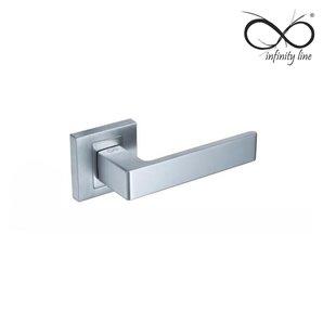 Klamka INFINITY-LINE APOLLO chrom mat rozeta kwadrat