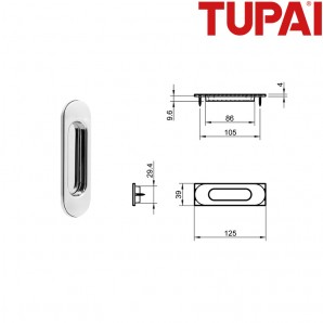 Pochwyt TUPAI 4052 03 chrom