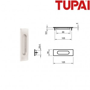 Pochwyt TUPAI 4053 152 biały