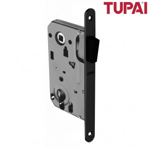 Zamek magnetyczny TUPAI 286 bęb czarny z zaczepem regulowanym