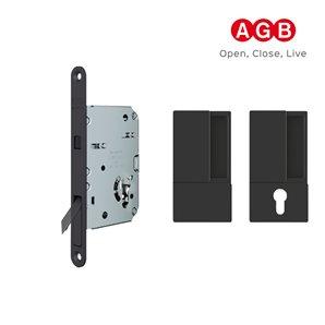 Zamek do drzwi przesuwnych  AGB WAVE SCIVOLA TRE CLASS BĘB czarny
