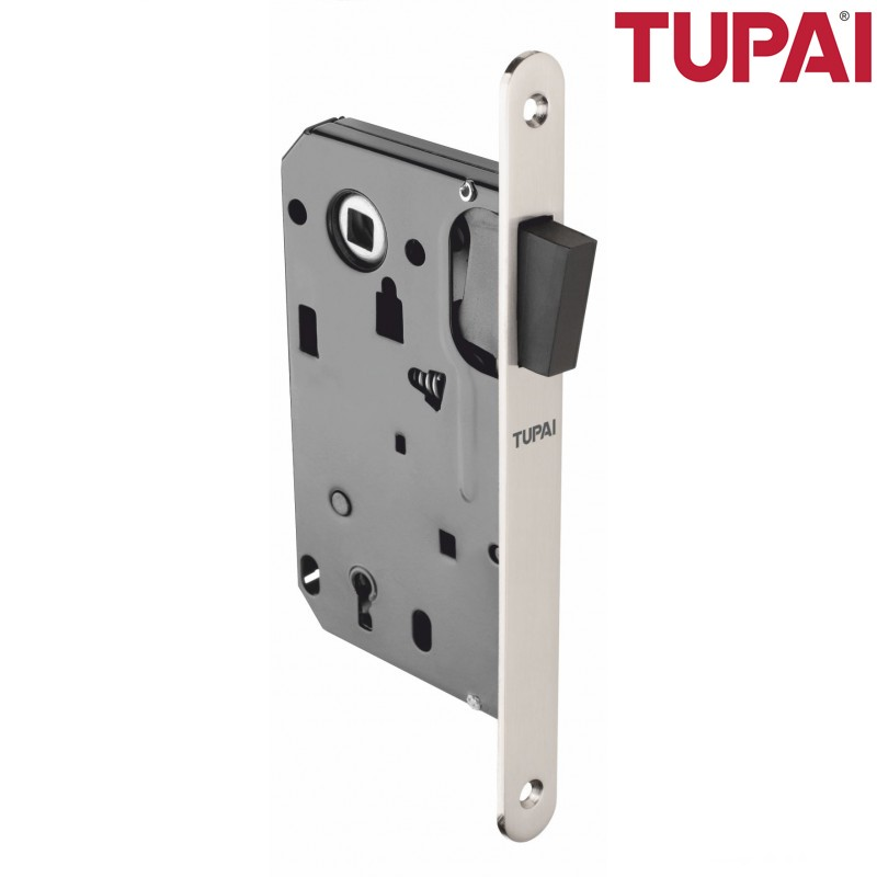 Zamek magnetyczny TUPAI 286 klucz nikiel satyna z zaczepem regulowanym