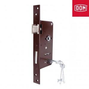 Zamek bramowy MC klucz lakier brąz lewy/prawy