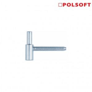Dolna część zawiasu POLSOFT 13,5x60 cynk biały