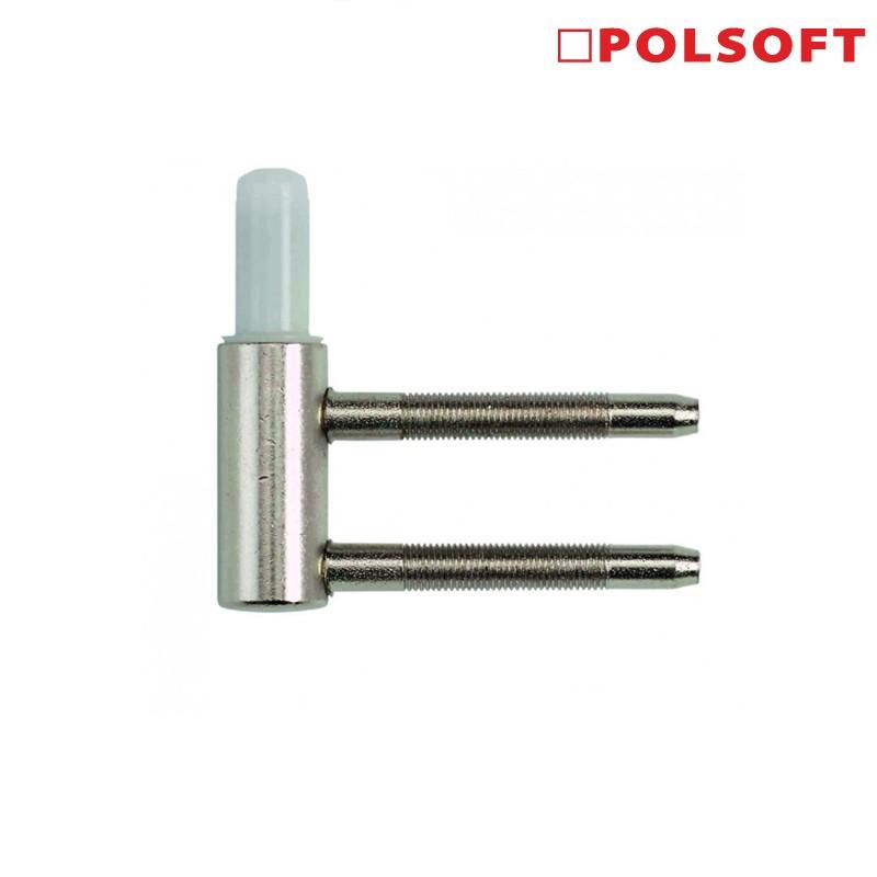 Dolna część zawiasu POLSOFT 15 M7 nikiel z teflonem