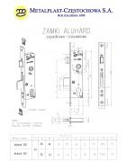 wymiary Zamek ALUHARD 30 Z czoło U 24 INOX