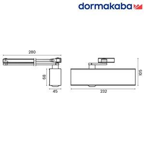 Samozamykacz DORMA TS 71 (EN 3-4) z ramieniem brązowy