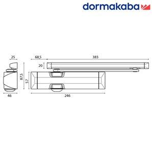 Samozamykacz DORMA TS 90 (EN 3-4) z szyną biały