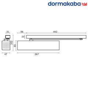 Samozamykacz DORMA TS 91  (EN 3-4) z szyną srebrny