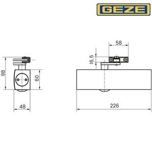 Samozamykacz GEZE TS 2000 VBC bez ramienia srebrny