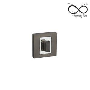 Rozeta INFINITY-LINE kwadratowa wc tytan RNQ 203