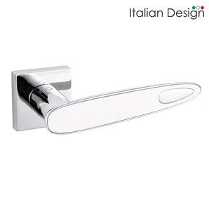 Klamka ITALIAN DESIGN LUNA chrom/biały