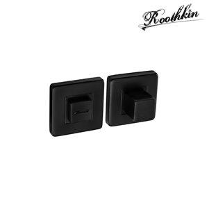 Rozeta kwadratowa QR1 czarny RAL9005 z pokrętłem kwadratowym WC