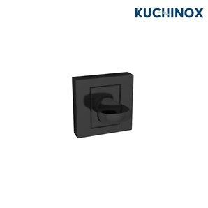 Rozeta kwadratowa wc czarna QUBIK