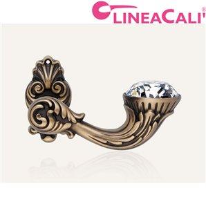 KLAMKA LINEA CALI BRILLIANT DIAMOND SZYLD OZDOBNY 091 brązowiony