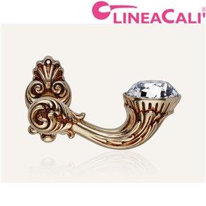 KLAMKA LINEA CALI BRILLIANT DIAMOND SZYLD OZDOBNY 091 stare złoto