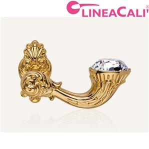 KLAMKA LINEA CALI BRILLIANT DIAMOND SZYLD OZDOBNY 091 złocony