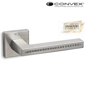 Klamka CONVEX 1015 nikiel+Swarovsky