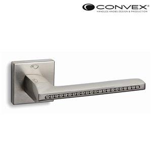 Klamka CONVEX 1125 nikiel satyna+Swarovsky