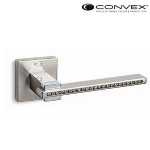 Klamka CONVEX 1215 nikiel satyna+Swarovsky